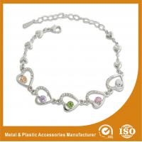 Buy cheap Crystal Stone Metal Chain Bracelets Bead Charm Bracelets Jewelry from wholesalers