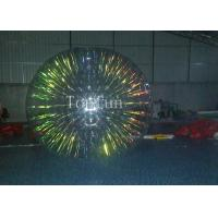 Buy cheap Customize 1.0mm PVC Inflatable Zorb Ball With Colorful Glow For Business Use from wholesalers