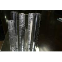 Buy cheap galvanised Metal Mesh Tubing , thin welded perforated metal Tube 0.5mm from wholesalers