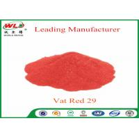 Buy cheap C I Vat Red 29 Vat Scarlet R Indanthrene Dyestuff For Cotton Yarn / Wool from wholesalers