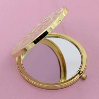 Buy cheap Ladies Desktop Pocket Make Up Mirror Laser Engraved , Magnifying Compact Mirror from wholesalers