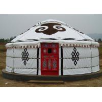 Buy cheap 5 Person Mongolian Yurt Tent / Canvas Yurt TentWith Three Layer Wrap Cloth product