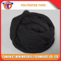 Buy cheap Black Virgin Polyester Tops 3Dx88MM - 120MM for Woolen Spinning Yarn, Virgin Polyester Top from wholesalers