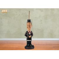 Buy cheap Polyresin Statues Decorative Resin Butler Sculpture Toilet Paper Holder Floor Decor from wholesalers