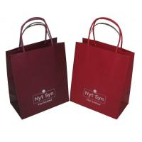 Buy cheap Recyclable Flat bottom 200gsm kraft CYMK Coloured Paper Bags With Handles (wist printed) from wholesalers