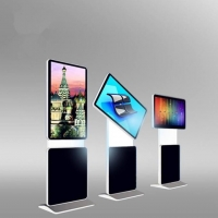 Buy cheap Floor Standing 1920*1080 43 Rotatable LCD Digital Signage Touch Screen Kiosk for Advertising from wholesalers