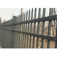 Buy cheap Black powder coated spear top galvanised tubular metal fence from wholesalers