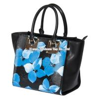 Buy cheap Floral Printing on Genuine Cow Leather Tote Bags for Ladies WB-018 from wholesalers