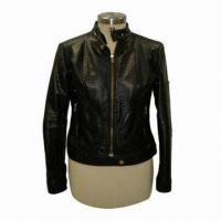 Buy cheap Women's Pu/Leather Jacket, Available in Black from wholesalers