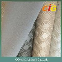 Buy cheap Decoration Colorful 100% pvc faux leather , artificial leather fabric For Furniture product