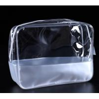 Buy cheap Transparent Fashion Vinyl Plastic Bag , Eva Cosmetic Makeup Bag For Travel Packing from wholesalers