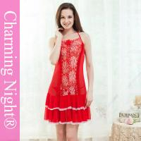 Buy cheap Front Lace Sexy Lingerie Underwear Mature Women Cute Night Dress Showing Nipples from wholesalers