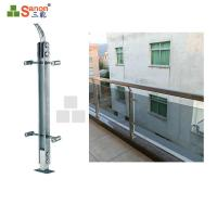 Buy cheap SS304 Stainless Steel Balcony Posts Railing Pillar Satin Finished Diameter 42.4mm from wholesalers