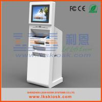 Buy cheap Computer PC Kiosk Stand Check In Ticketing Information Kiosk With A4 printer from wholesalers