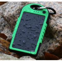 Buy cheap solar power Accessories, ,DualUSB Solar Power Bank Battery Charger for iphone,samsung,5000mAh Dual-USB Waterproof from wholesalers