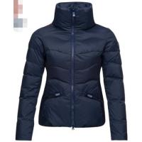 China Mid Thickness Ladies Quilted Puffer Jacket , Breathable Womens Warm Puffer Coat on sale