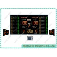 Buy cheap Big Electronic Basketball Scoreboard and LED Shot Clock with Game Time from wholesalers