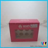 Buy cheap China disposable clear pvc window cupcake boxes wholesale from wholesalers