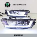 Buy cheap Skoda Octavia DRL LED Daytime Running Light turn light steering for car from wholesalers