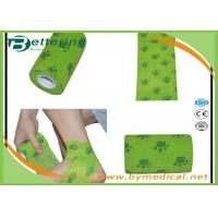 China Flexible Stretch Bandage Wrap For Veterinary Pet / People With Dog Paw Printing on sale