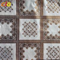 Buy cheap Metallic Printed PVC Transparent Film Lace Tablecloth Various Flower Designs from wholesalers