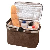 Buy cheap Custom Basket Insulated 6 Can Cooler With Hard Plastic Liner Mock Jute Material from wholesalers