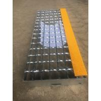 Buy cheap T8 Steel grating stair treads fixed by bolts with anti-slip abrasive nosing from wholesalers