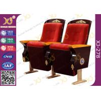 Buy cheap Vintage Fixed Legs Church Hall Chairs With Handmade Religion Carving Pattern from wholesalers