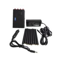 Buy cheap Handheld Cell Phone Jammer / Portable GPS Jammer With Eight Antennas , 125*75*35mm from wholesalers