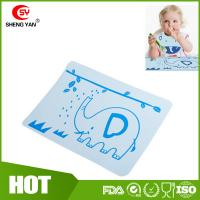 Buy cheap BPA Free Flexible Durable Silicone Kids Placemat With Elephant Printed from wholesalers