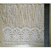 Buy cheap Soft Fringe Decorative Black / White Lace Trim with Milk Poly from wholesalers