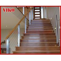 Buy cheap Steel Cable Stair VK79SC  Carbon Steel Powder-coate  Aluminum Treed Beech Wooden  Handrail 304 Stainless Steel  Glass from wholesalers