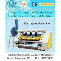 Buy cheap 2 Layer Single Facer Corrugated Paper Carton Making Machine Simple Structure from wholesalers