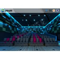 Buy cheap Electric Pneumatic System 3D 4D Movie Theater Special Effect Black Motion Chairs product
