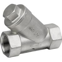Buy cheap 800psi Stainless Steel Threaded End Y Type Strainer Wye Strainer BSP NPT PT from wholesalers