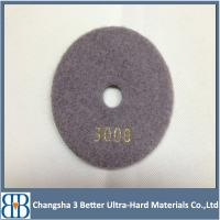 Buy cheap High working efficiency diamond polishing pads for marble granite from wholesalers