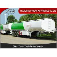Buy cheap Storage Oil Tank Semi Trailer With 4 Compartments / Fuel Tanks Semi Trucks  from wholesalers