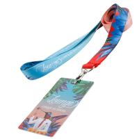Buy cheap 2018 cheap customized colorful polyester lanyard metal hook buckle cheap silk offset heat-transferring printing strap from wholesalers