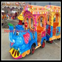 Buy cheap fair ground rides electric train ride trackless elephant train from wholesalers