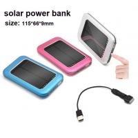 Buy cheap Solar mobile phone  power bank , size 115*66*9mm product