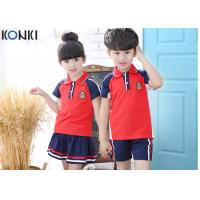 Buy cheap Custom School Uniforms Shirt For Boys And Girls , Summer School Uniform Clothes from wholesalers