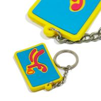 Buy cheap Eco - Friendly Personalized Promotional Gifts 3d Pvc Key Chain Any Color from wholesalers