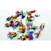 Buy cheap Colorful Architectural Scale Model People Painted Figures 1.3cm from wholesalers