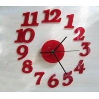 Buy cheap Red Princess DIY Acrylic Contemporary Wall Clock For Wall Art Decoration SH-32 from wholesalers