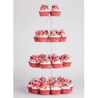 Buy cheap Clear Countertop acrylic cake display rack from wholesalers