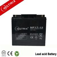 Buy cheap Matrix 12V 17AH sealed lead acid battery from wholesalers