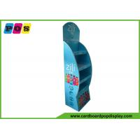 Buy cheap Soft Drinks Corrugated Paperboard Promotional Display Stands 4 Shelf FL065 from wholesalers