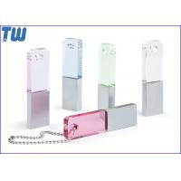 Buy cheap Slim Rectangle Crystal Pen Drive Colorful with Free Ball Chain from wholesalers
