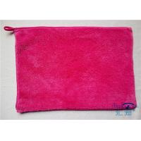 Buy cheap High Density Fluffy Fleece Microfiber Kitchen Towels Red , Water Absorbing Towel from wholesalers