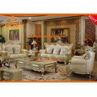 Buy cheap European style wooden furniture model made in china leather sofa from wholesalers